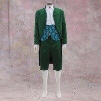 Косплэй DIY Зеленый викторианской элегантный готический аристократ 18th Века Мужские и Для женщин взрослых свадебные Косплэй костюм