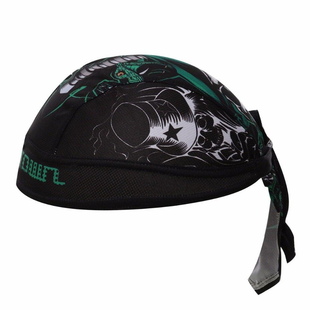 Prix pour Pirate Crâne Style Biker cyclisme bandana pirates écharpe headsweats/strong chapeaux robe cyclisme chapeau principal d'usage/vélo cap/caps