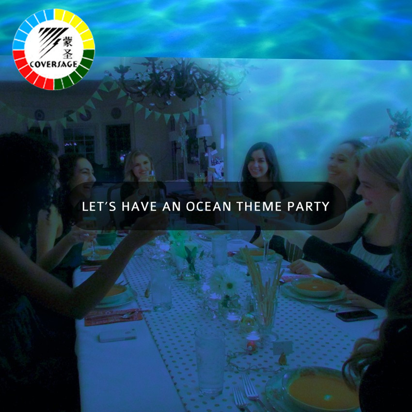 Coversage Okyanus Dalgası Projektör Müzik Çalar Hoparlör LED - Gece Lambası - Fotoğraf 5