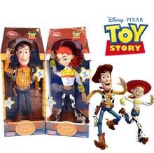 Disney Pixar Toy Story 15 pulgadas Woody Jessie Pvc acción de dibujos  animados figura muñeca de juguete para niños regalo con ca. 855c778b375