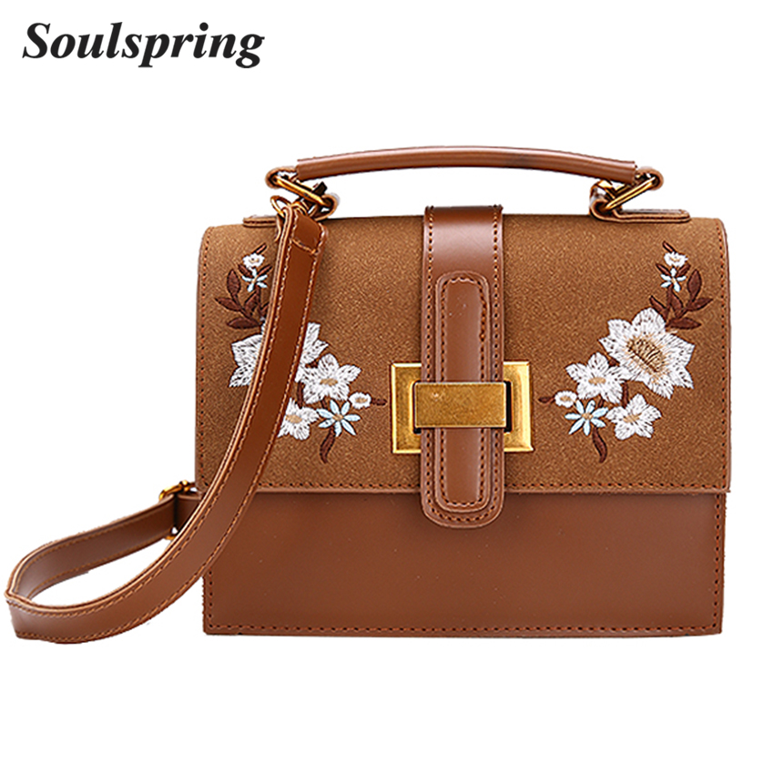Fashion Flowers Crossbody Bags For Women Embroidery Messenger Bag Small Designer Handbags High Quality Ladies Tote Bag Sac New women messenger bags luxury handbags women bags designer fashion letter famale shoulder bag high quality crossbody bag for women