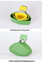 Mesh strainer to cook 3 side dishes in one go!