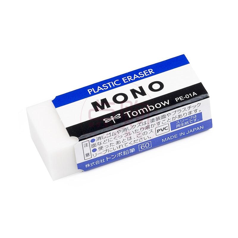 4Pcs TOMBOW MONO Zero  Plastic Eraser Professional Drawing Eraser PE-01A/03A Rubber Borrachas Escolar Material Escolar Borrachas
