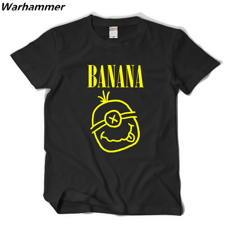 Warhammer Minions T shirt Men Nirvana Logo Rock Fans Print Funny T shirts Casual Tshirt Homme Cotton Summer Short Sleeve O-neck