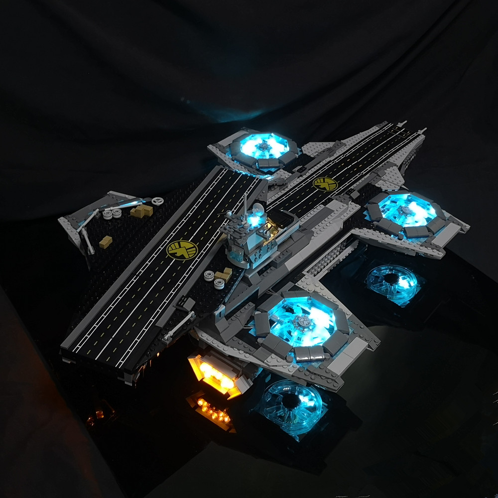 Led Light Kit  (Only Light Set) For Lego 76042 The Marvel Super Heroes Shield Helicarrier  Compatible With 07043