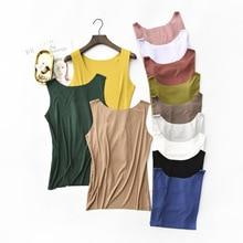 Spring Summer Tank Tops Women Sleeveless Round Neck Loose T Shirt Ladies Vest Singlets Camisole Cotton Rib Slim Ladies Thin Vest цена