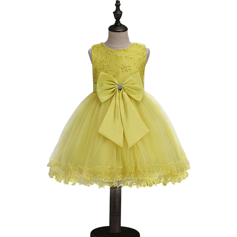 Kids Girls Flower Dress Baby Girl Birthday Party Dresses Children Flower Bow Dress Princess Ball Gown party Clothes 10 12 years sleeveless casual dress for girl clothes princess dress baby girls clothes flower ball gown dresses kids birthday party costumes
