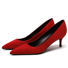 Women's Pumps Med Thin Heels Ladies OL Pointed Toe High Heel Shoes Red Black Shallow Spring Wedding Heeled Shoes E0043 тонометр b well med 57