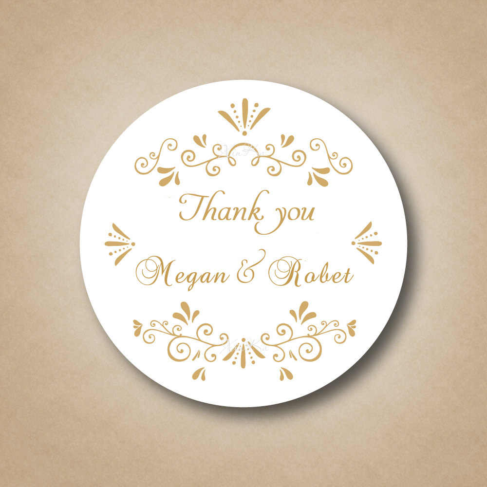 Gold Stickers For Wedding Favours Custom Sticker