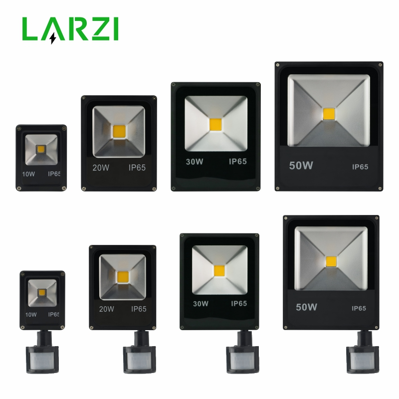 Led Flood Light Outdoor Spotlight Floodlight 10W 20W 30W 50W Wall Washer Lamp Reflector IP65 Waterproof Pir Motion Sensor Light free dhl fedex 85 265v 10w 20w 30w 50w 70w 100w pir led floodlight with motion detective sensor outdoor led flood light spot