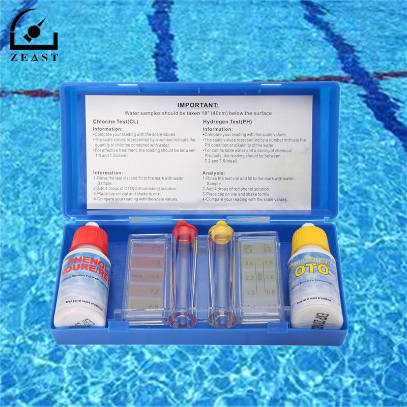 Ph Chlorine Water Quality Test Kit Tester Hydrotool Testing Kit Swimming Pool Hydroponics