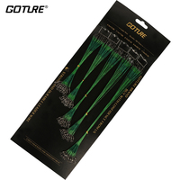 Goture 100pcs Lot Green Nylon Coated Stainless Steel Wire Leader Fishing Line For Muskies Northern Pike