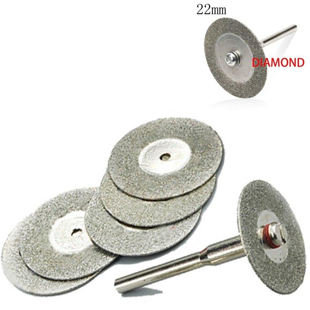 5Pcs 22mm Cutting Disc Diamond Grinding Wheel Disc Circular Saw Blade Abrasive Mini Drill For Dremel Rotary Tool Accessories
