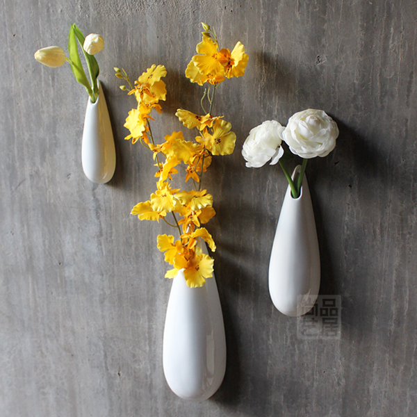 Aliexpress Buy Modern Ceramic Vase Brief White Vase Wall