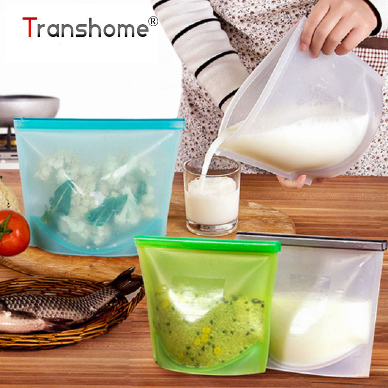 Makanan Grade Silicone Freshness Preservation Bags Protection Food Container Package Peralatan Dapur Storage Bag Aksesori Dapur