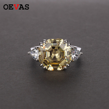OEVAS High Carbon Diamond Wedding Rings For Women 100% S925 Silver Sparking Created Moissanite Engagement Party Fine Jewelry