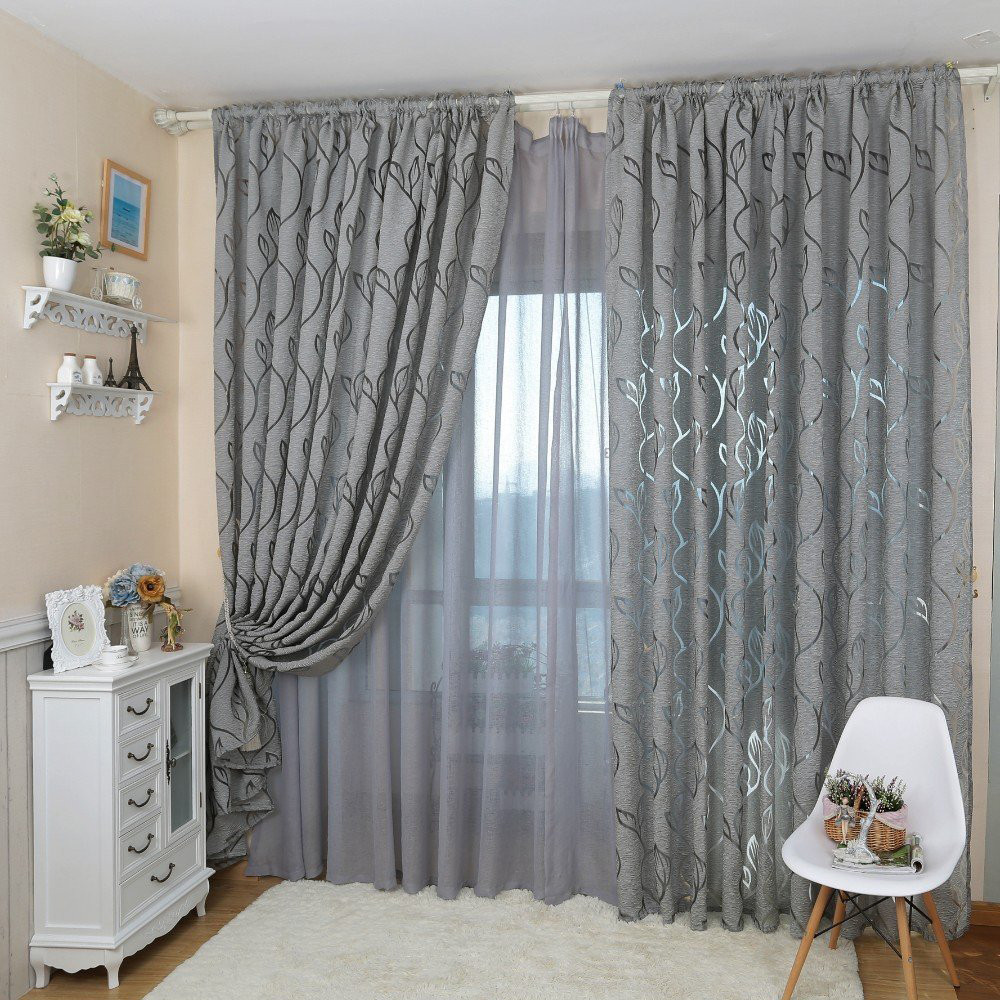 Hot Flowers Semi Blackout Treatment Blind Fabrics Curtain