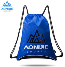 AONIJIE Waterproof Drawstring Backpacks Sports Pattern Travel Softback Man Women Running Bag Shoulder Pack Drawstring Bag unisex backpacks men women drawstring backpack bags cool shoes burger printed casual softback shopping travel drawstring bag