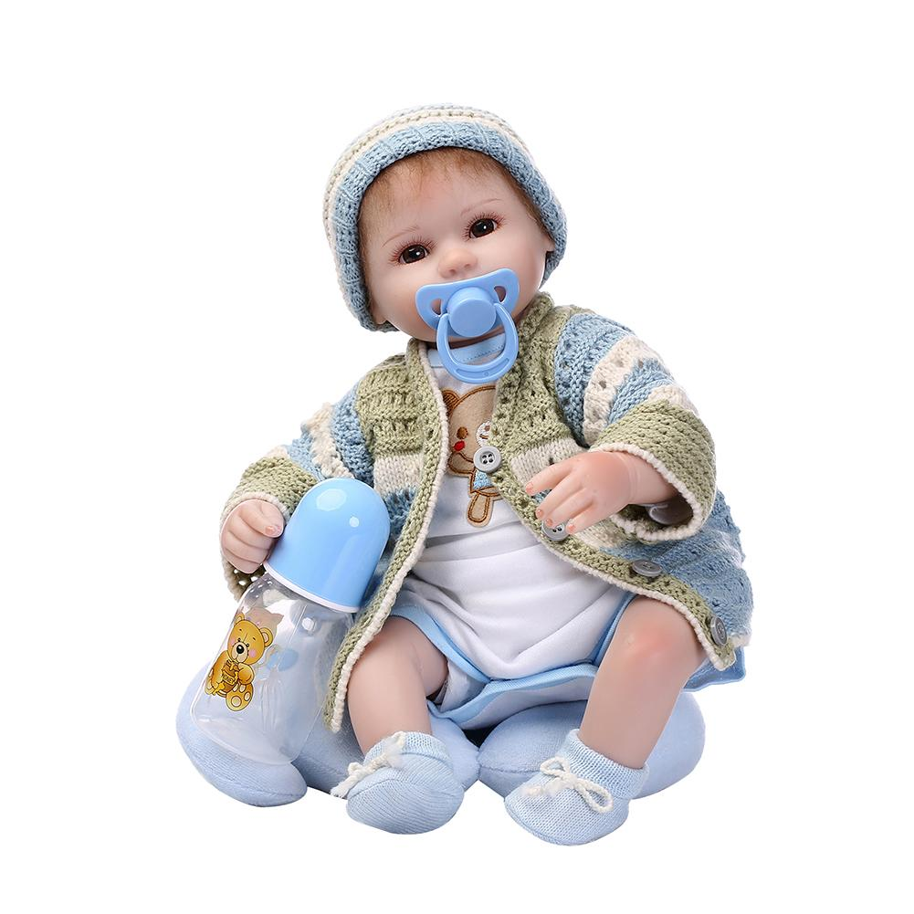 New Lovely Realistic Lifelike Vinyl Silicone Baby Reborn Doll Toy with Knitwear New Lovely Realistic Lifelike Vinyl Silicone Baby Reborn Doll Toy with Knitwear