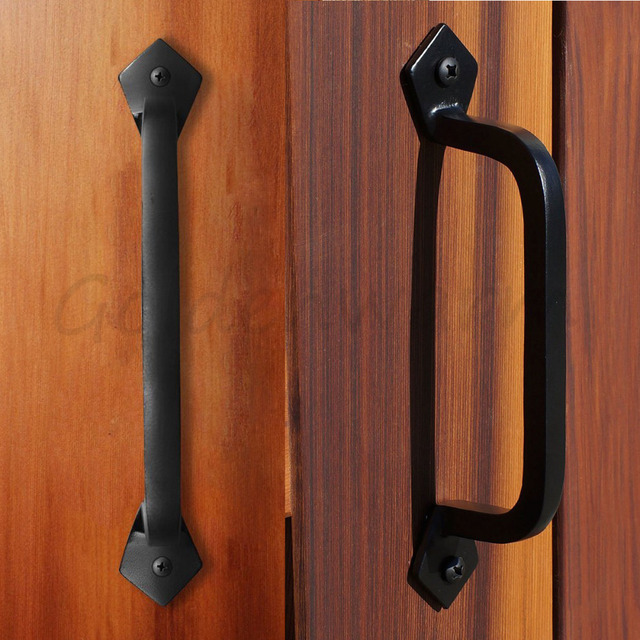 Delicieux Square Door Pulls Handles Goldenwarm LS03T3BK Solid Cast Iron Black Barn Door  Handles Vintage And Retro