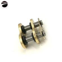 Мотоцикл приводной цепи уплотнительное кольцо 530 525 520 428 цепь мастер совместных ссылки клип для грязи, руль для шоссейного велосипеда, соединитель для двигателя замок 1 шт