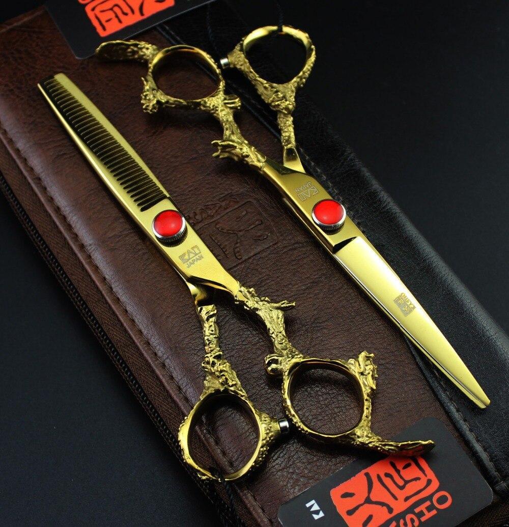 цена на 6.0 inch Purple Dragon Professional Hair scissors set,Cutting & Thinning scissors,dragon handle