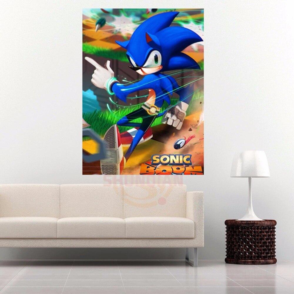 G928 Sonic Boom # Q Da Lona Pintura De Parede Cartaz Pano De Seda Tecido De  Impressão Personalizado Imprimir Sua Imagem Cartaz Em Adesivos De Parede De  Casa ... Part 72