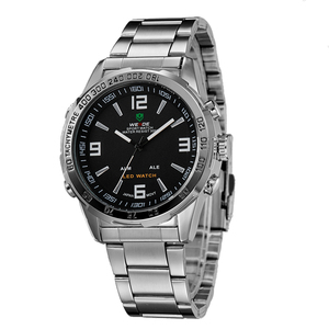 Image 3 - New Watches Men Luxury Brand Weide Full Steel Quartz Clock Led Digital Military  Watch Sport Wristwatch Relogio Masculino