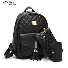 3 шт./компл. маленький медведь подвеска Обувь для девочек школьный из искусственной кожи с кисточками Для женщин рюкзак двойной молнии Для женщин сумка Винтаж рюкзак сумка #23