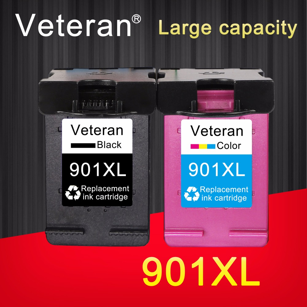 TIANSE 2pk 901XL for HP 901 HP901 XL replacement Ink