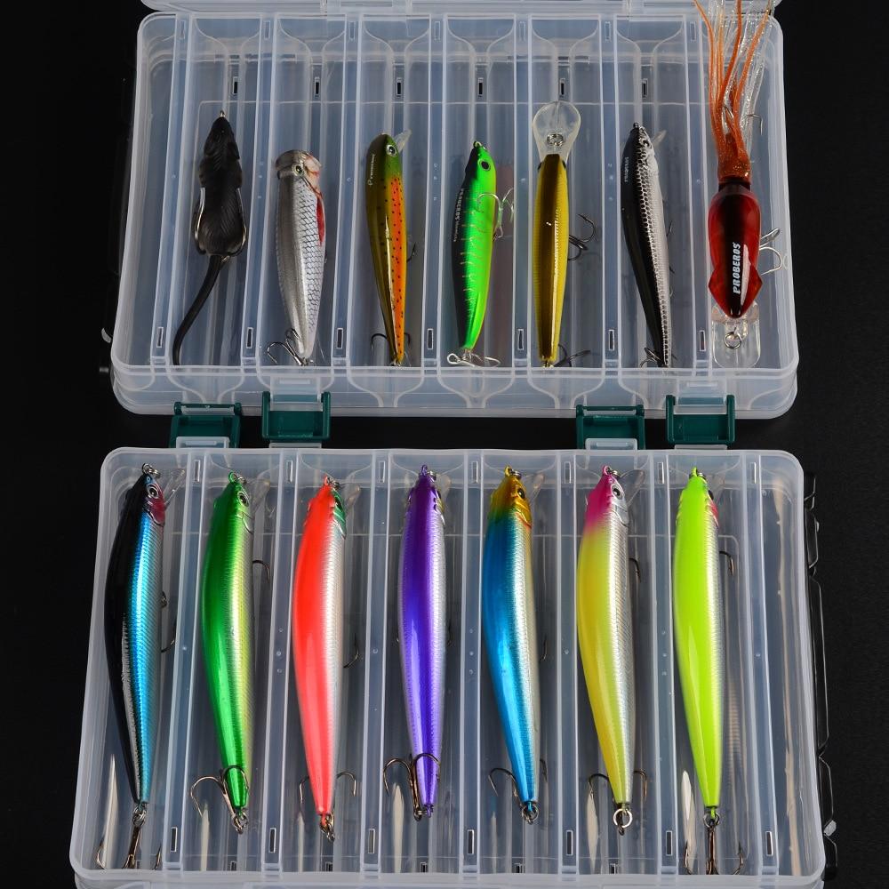 Set de leurres de pêche mixtes cuillère Piler crochets Kit de leurre de poisson en boîte Isca appâts artificiels engins de pêche Pesca