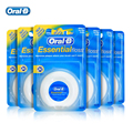 Oral B Essential Floss Comfortable Waxed Dental Floss Gum Care Interdental Clean Flat Thread Flosser 50m/pcs ( 6 pcs/pack )