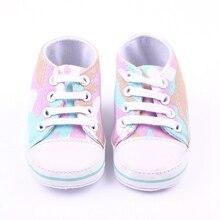 Новый Дизайн Анти-скольжения, босоножки, Красочные Печати Мальчик Девочка Холст Обувь 0-12 Месяцев