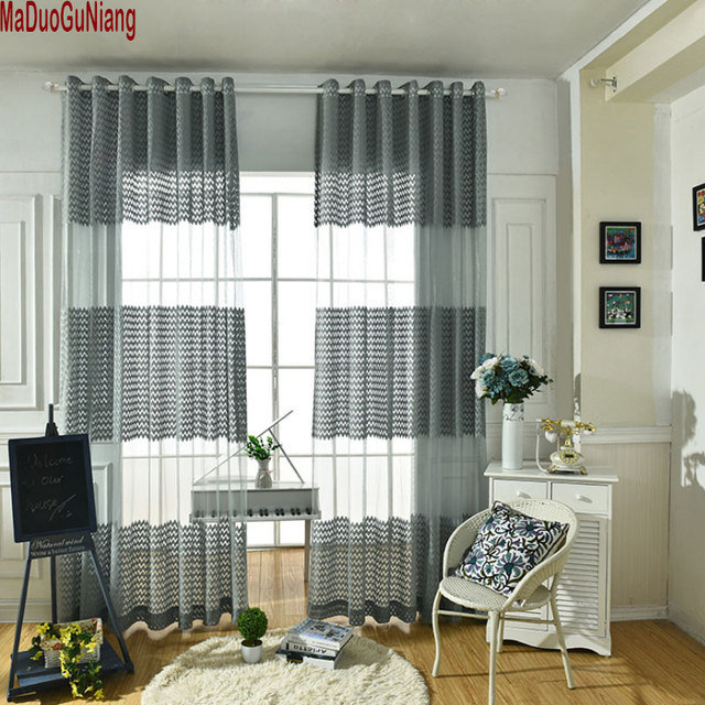 Sheer Curtain For Living Room Short Kitchen Window Curtain Blinds Fabric  Voile Drapes Custom Bedroom Tulle