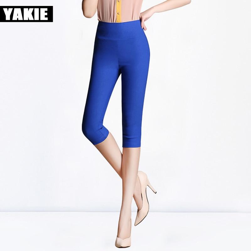 Cintura alta Pantalones de mujer Verano 2017 Tallas grandes 5XL 6XL - Ropa de mujer