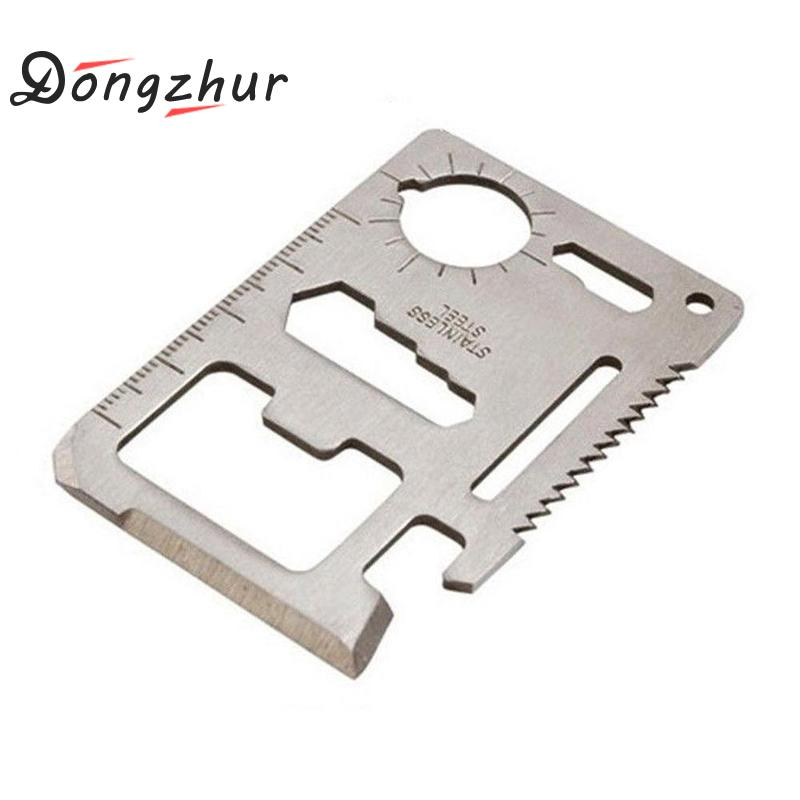 Multi Tools 11 In 1 Multifunction Outdoor Hunting Survival Camping Pocket Military Credit Card Knife Silver Multitool