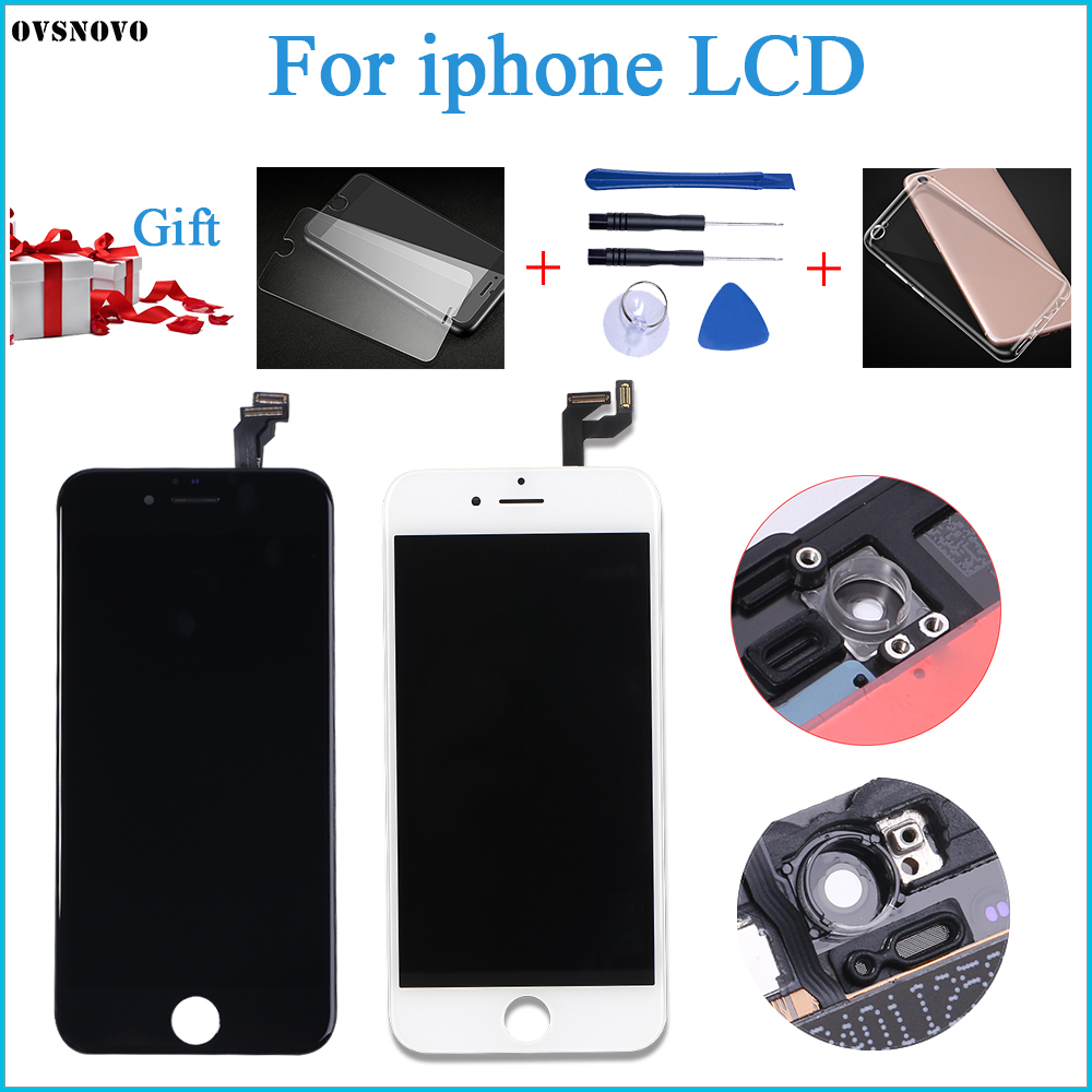 Cross Pry Tools Tri Pri /& Glue Card LCD Suction Cup Black Digitizer /& Frame Assembly for Apple iPhone 6 Plus Grade A CDMA /& GSM