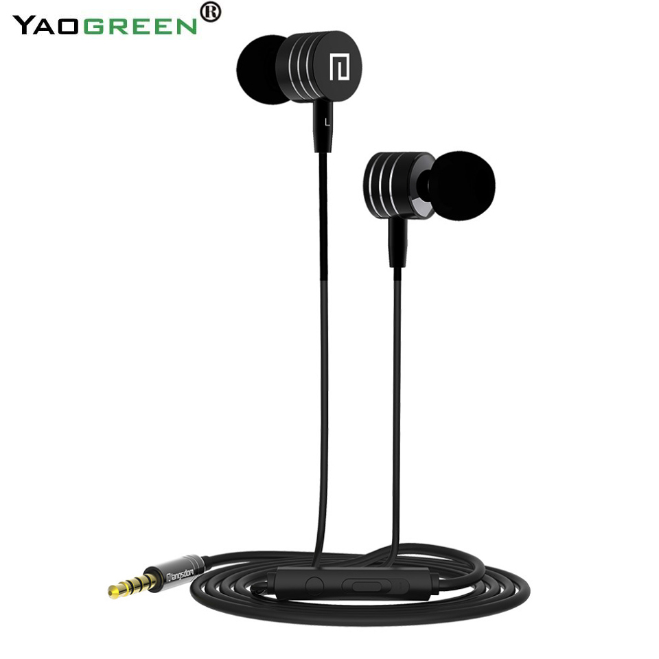 I-7 Comfortable Wearing Earphones Super Stereo Bass Metal Headhhone With Microphone Music Headset for samsung xiaomi phones MP3