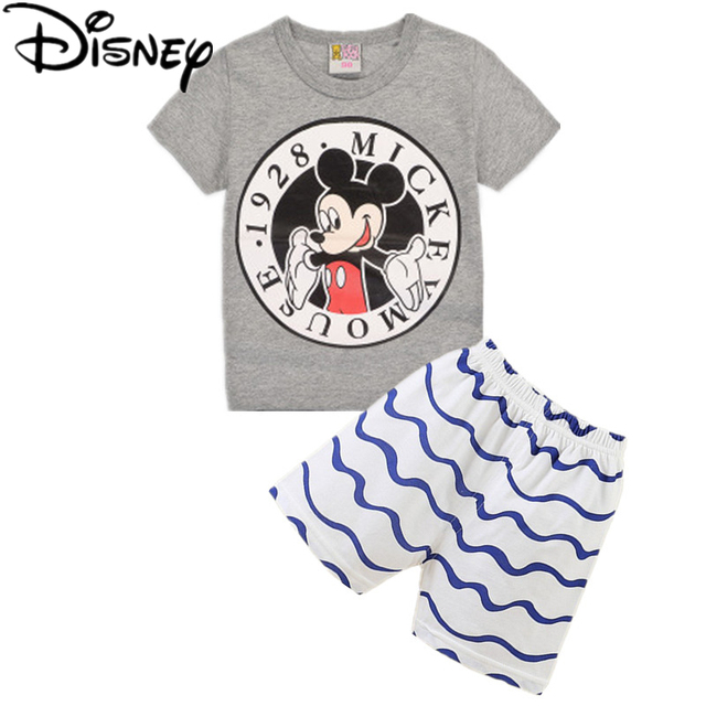 eefa8e4d7 Disney niños deportes ropa Casual de verano fresco traje de niños niño ropa  conjunto 100%