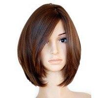 Европейский еврейский натуральная волосы прямые короткие Боб натуральные волосы парики челки стороны парик никогда Красота короткие нату