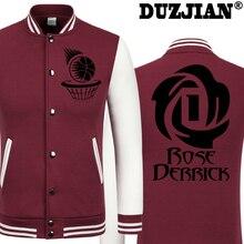 DUZJIAN Spring new Bull Derrick Rose casual jacket cheap men winter jackets male coat boys jacket hip hop youth jackets