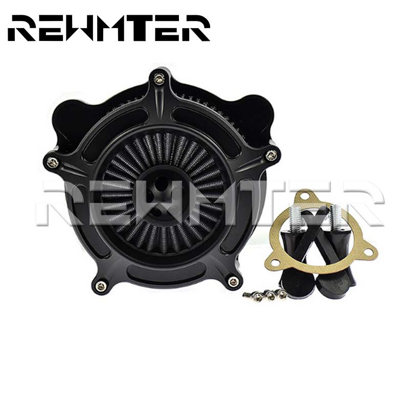 Motorcycle Turbine Spike Air Cleaner Intake Filter For Harley Touring 2017 Up Softail 2018 Air Filters & Systems For Harley