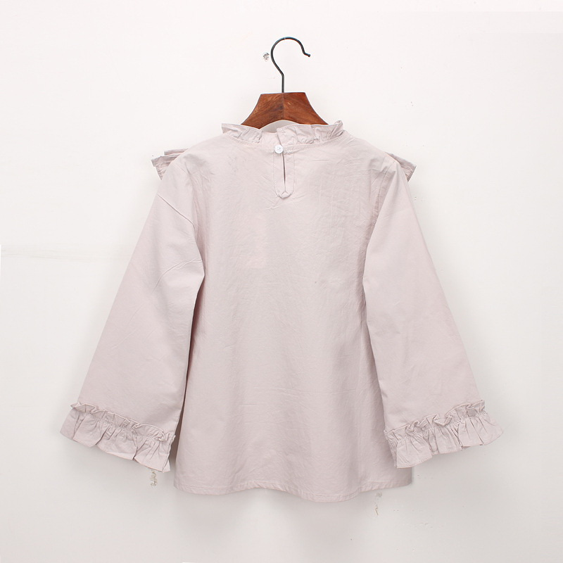 45-10-baby girl ruffles Solid blouses