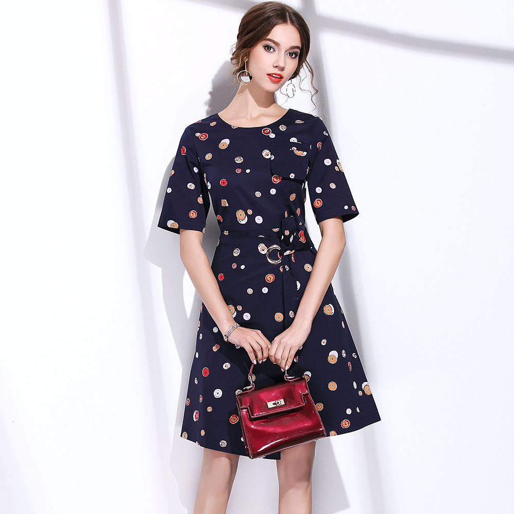 Buy Cheap BURDULLY 2017 British style Big brand New Summer Fashion Women Tropical Swing A-line Dresses Elegant Fresh Floral Print Dress