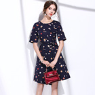 Save 6.2 on BURDULLY 2017 British style Big brand New Summer Fashion Women Tropical Swing A-line Dresses Elegant Fresh Floral Print Dress
