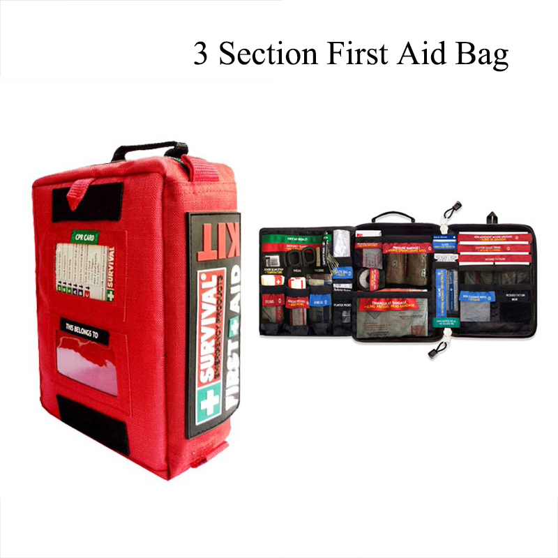 Image 3 - Handy First Aid Kit Waterproof Medical Bag for Hiking Camping Cycling Car Outdoor Travel Survival Kit Rescue Treatment-in Emergency Kits from Security & Protection