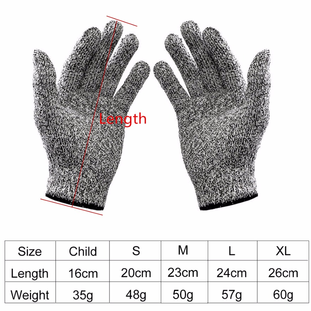 Cut-resistant Anti-Knife Glove Chain Saw Safty Gloves Level 5 Protection Hunting Survival Gear Travel Tool Camping Size L XL 23