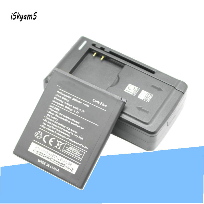 Iskyams Li-Ion-Battery Charger Mobile-Phone-Replacement 1x2000mah For Wiko Cink Universal