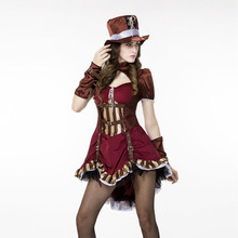 Adult Women Sexy Cool Ste&unk Western Cowboy Cowgirl Costume Short Claret Dress Ladies Fancy Carnival Party  sc 1 st  AliExpress.com & Buy sexy western costume and get free shipping on AliExpress.com
