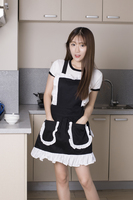 100 Cotton Cute Retro Kitchen Apron For Woman Cooking Cleaning Maid Costume Girls Waitress Apron For